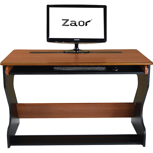 Zaor Miza Jr. Compact Desk (Black/Cherry)