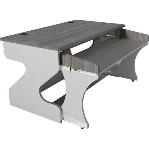 Zaor Miza M Modular Studio Desk (Titanium Wengé)