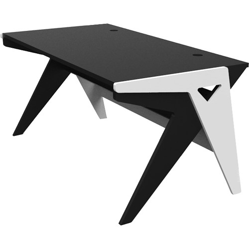 "Zaor Vision O 63"" Wide Desk, by 32.5"" Deep (Black and White)"