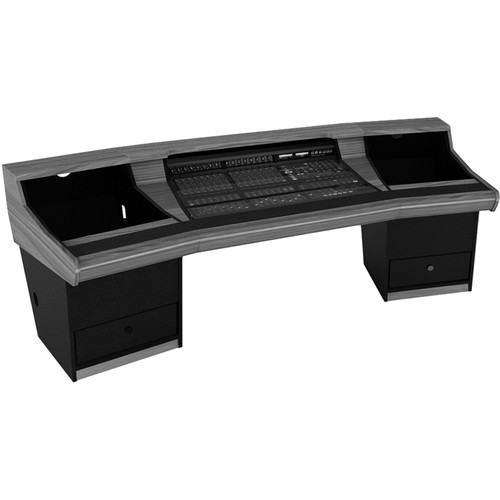 Zaor Matrix Angled Studio Desk with Dual 11 RU Rack Bays for SSL Matrix (Black)