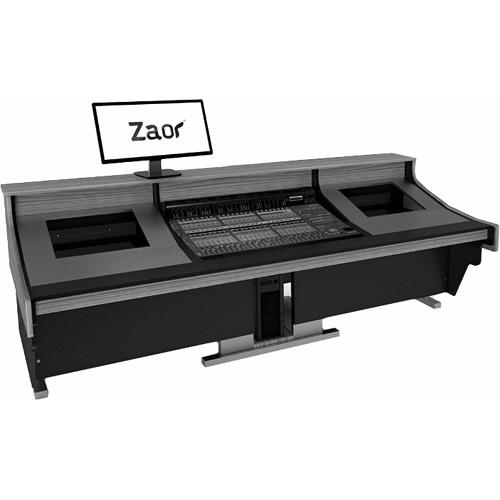 Zaor Felix Studio Desk with Dual 8 RU Rack Bays for Medium/Large Mixers (Black)
