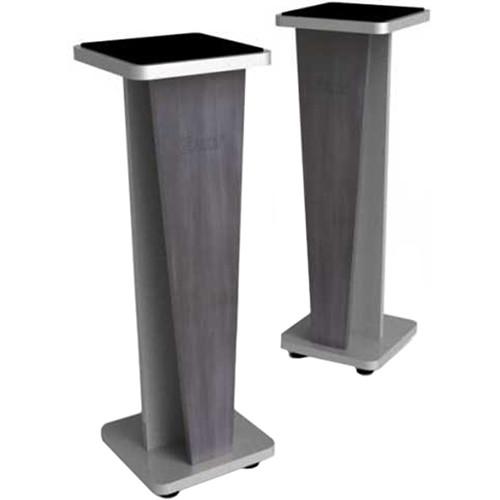 """Zaor Miza V 36"""" Fixed Speaker Stands (Pair, Titanium Wenge)"""