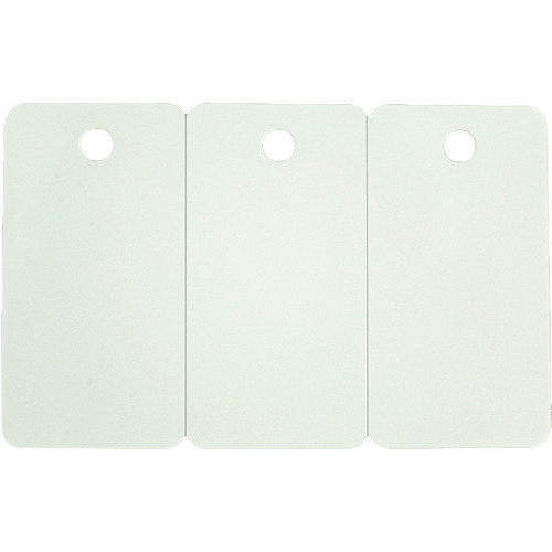 Zebra White PVC 30 mil Cards with 3-Up Breakaway Key Tags for Select Card Printers (500 Cards)