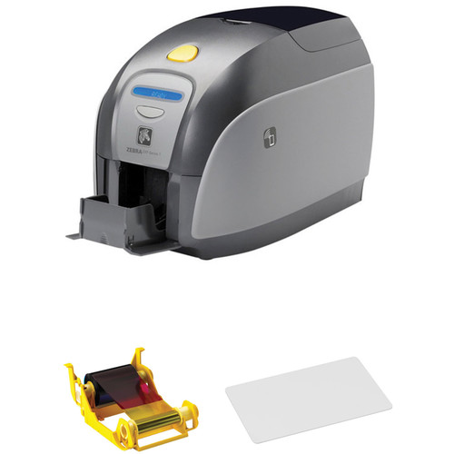 Zebra ZXP Series 1 Single-Sided Card Printer with YMCKO Ribbon & 500 Cards Kit