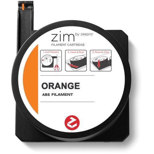 Zeepro zim ABS Filament Cartridge (0.5 lb, Orange)