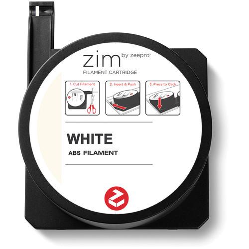 Zeepro zim ABS Filament Cartridge (0.5 lb, White)