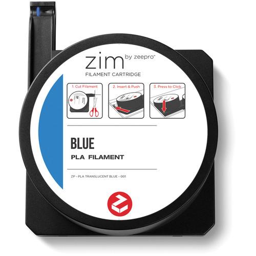 Zeepro zim PLA Filament Cartridge (0.6 lb, Blue)