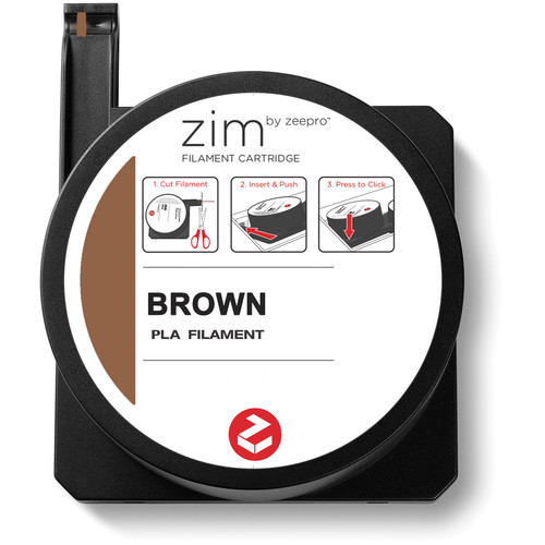 Zeepro zim PLA Filament Cartridge (0.6 lb, Brown)