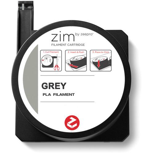 Zeepro zim PLA Filament Cartridge (0.6 lb, Gray)