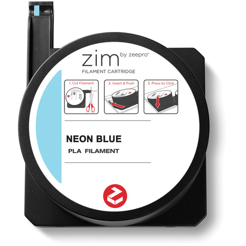 Zeepro zim PLA Filament Cartridge (0.6 lb, Neon Blue)