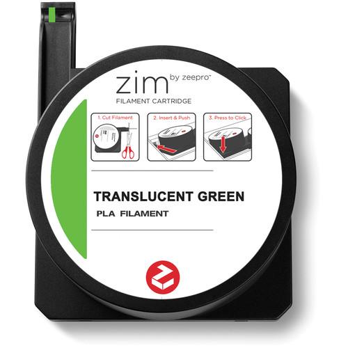 Zeepro zim PLA Filament Cartridge (0.6 lb, Neon Green)