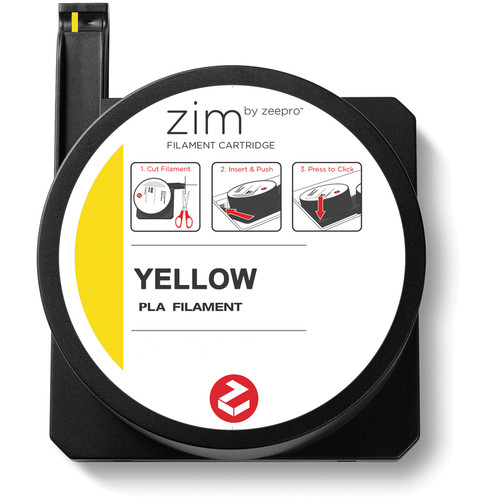 Zeepro zim PLA Filament Cartridge (0.6 lb, Yellow)