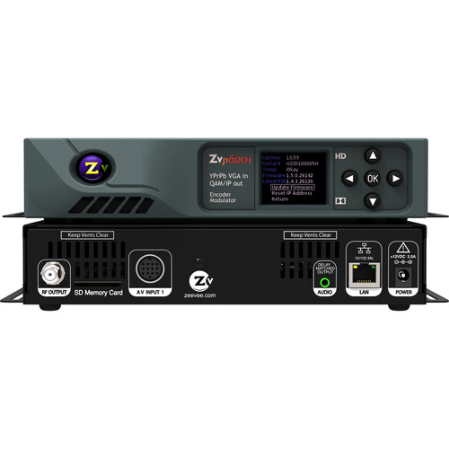 ZeeVee ZvPro620i HD Digital Encoder/Modulator with 2-Port HD DIN Input