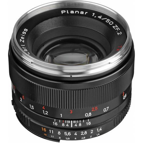Zeiss Planar T* 50mm F/1.4 ZF.2 Lens for Nikon F-Mount Cameras