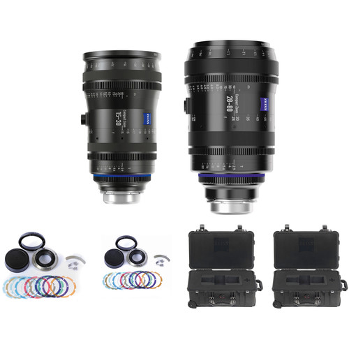 ZEISS CZ.2 Set #1 Two PL Mount Zoom Lens Bundle of 15-30 and 28-80 with Swappable Canon Mounts, Cases (Feet)