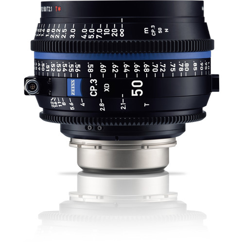 ZEISS CP.3 XD 50mm T2.1 Compact Prime Lens (PL Mount, Meters)