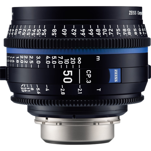 Zeiss CP.3 50mm T2.1 Compact Prime Lens (Canon EF Mount, Meters)