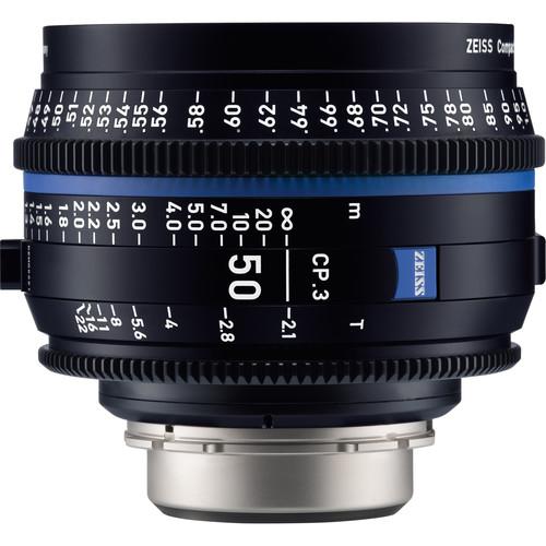 ZEISS CP.3 50mm T2.1 Compact Prime Lens (MFT Mount, Feet)