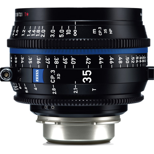 Zeiss CP.3 XD 35mm T2.1 Compact Prime Lens (PL Mount, Feet)