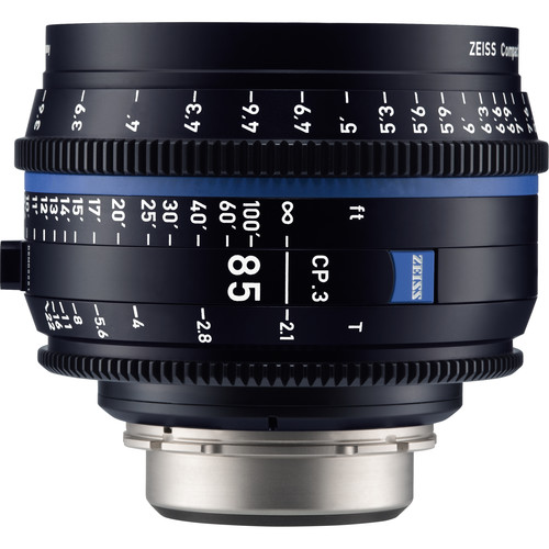 ZEISS CP.3 85mm T2.1 Compact Prime Lens (Canon EF Mount, Feet)