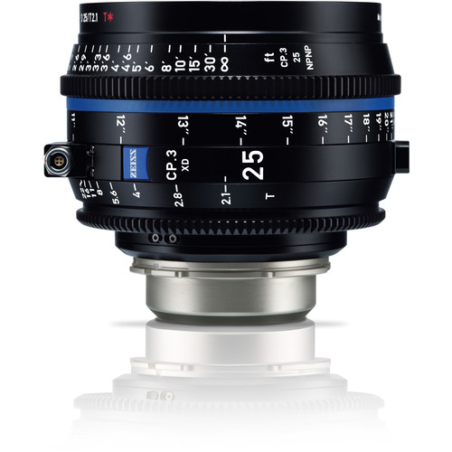 Zeiss CP.3 XD 25mm T2.1 Compact Prime Lens (PL Mount, Meters)