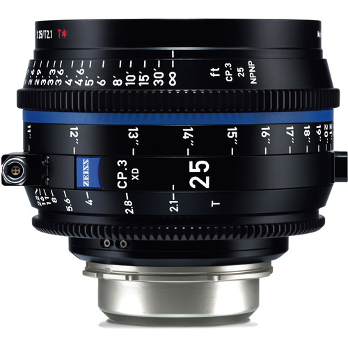 ZEISS CP.3 XD 25mm T2.1 Compact Prime Lens (PL Mount, Feet)