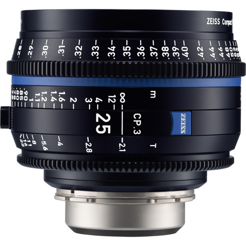 ZEISS CP.3 25mm T2.1 Compact Prime Lens (Canon EF Mount, Feet)