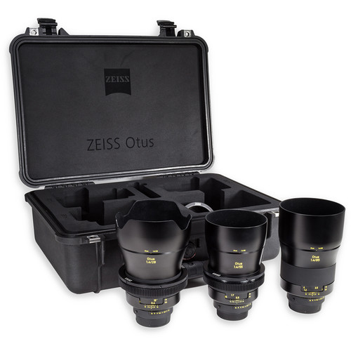 ZEISS Otus ZF.2 Bundle with 28mm, 55mm, and 85mm Lenses for Nikon F