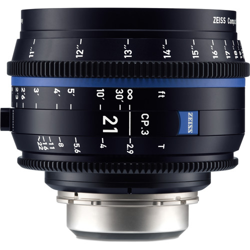 ZEISS CP.3 21mm T2.9 Compact Prime Lens (Canon EF Mount, Feet)