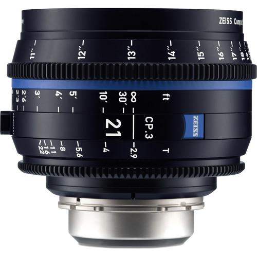 ZEISS CP.3 21mm T2.9 Compact Prime Lens (MFT Mount, Feet)