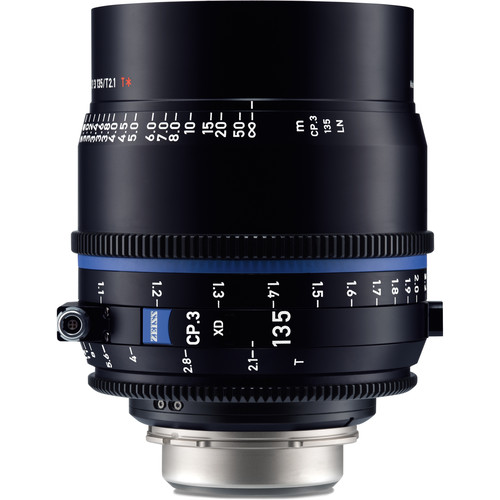 Zeiss CP.3 XD 135mm T2.1 Compact Prime Lens (PL Mount, Meters)