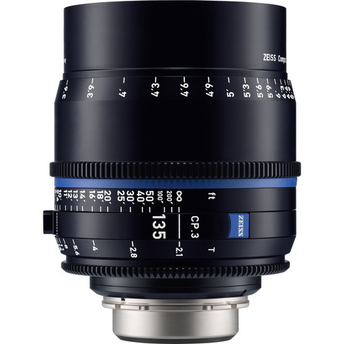 ZEISS CP.3 135mm T2.1 Compact Prime Lens (Canon EF Mount, Feet)