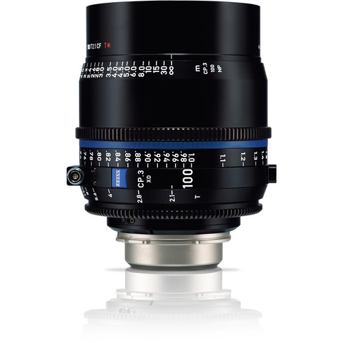 Zeiss CP.3 XD 100mm T2.1 Compact Prime Lens (PL Mount, Meters)