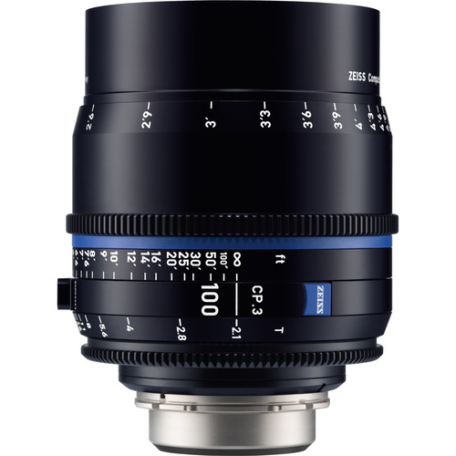 ZEISS CP.3 100mm T2.1 Compact Prime Lens (PL Mount, Feet)