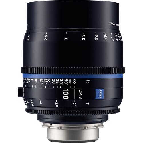 ZEISS CP.3 100mm T2.1 Compact Prime Lens (MFT Mount, Feet)