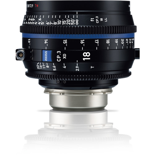 ZEISS CP.3 XD 18mm T2.9 Compact Prime Lens (PL Mount, Meters)
