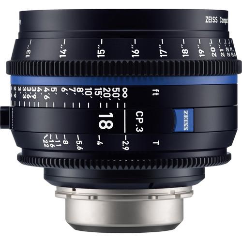 ZEISS CP.3 18mm T2.9 Compact Prime Lens (MFT Mount, Feet)