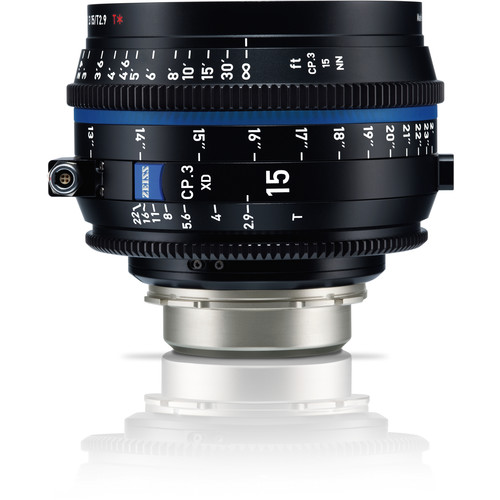 ZEISS CP.3 XD 15mm T2.9 Compact Prime Lens (PL Mount, Meters)