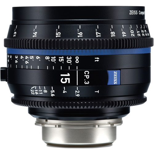 ZEISS CP.3 15mm T2.9 Compact Prime Lens (PL Mount, Meters)