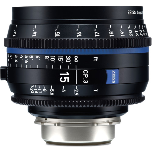ZEISS CP.3 15mm T2.9 Compact Prime Lens (Canon EF Mount, Meters)