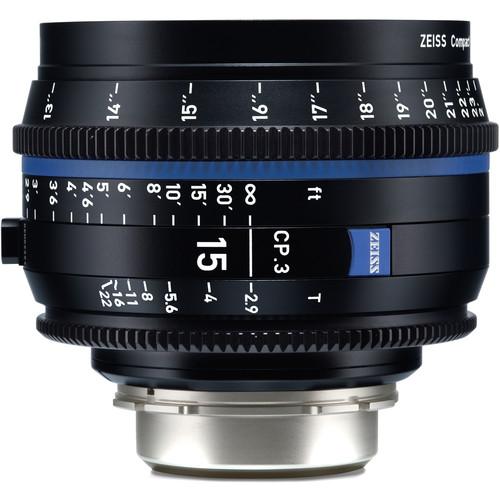 ZEISS CP.3 15mm T2.9 Compact Prime Lens (MFT Mount, Meters)