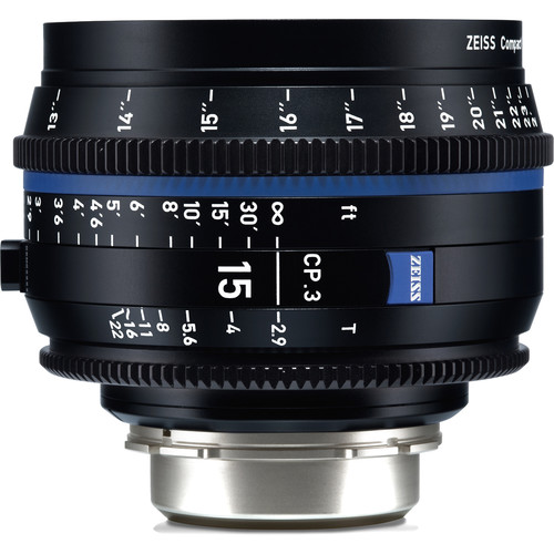ZEISS CP.3 15mm T2.9 Compact Prime Lens (Sony E Mount, Feet)