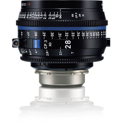 ZEISS CP.3 XD 28mm T2.1 Compact Prime Lens (PL Mount, Meters)