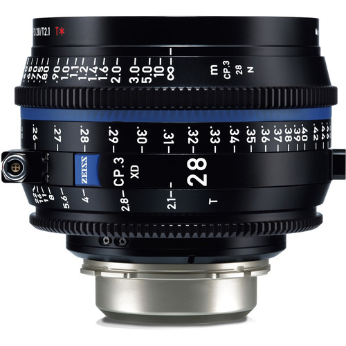 ZEISS CP.3 XD 28mm T2.1 Compact Prime Lens (PL Mount, Feet)