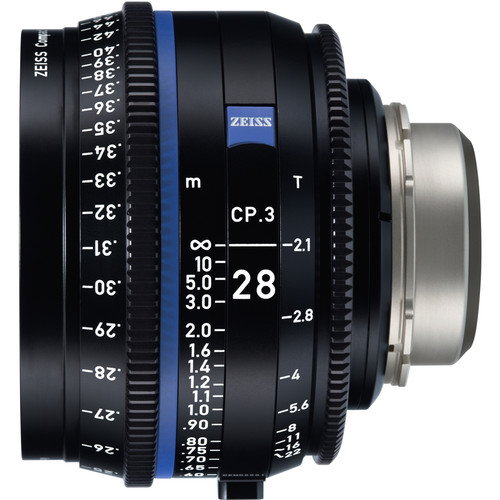 ZEISS CP.3 28mm T2.1 Compact Prime Lens (Canon EF Mount, Meters)