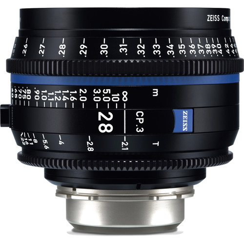 ZEISS CP.3 28mm T2.1 Compact Prime Lens (Canon EF Mount, Feet)