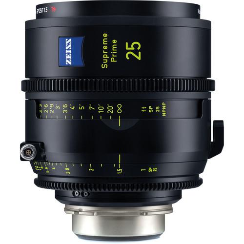 ZEISS Supreme Prime 25mm T1.5 (Feet, PL Mount)