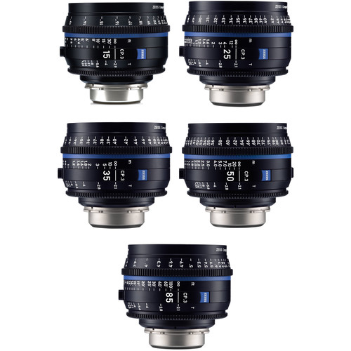 ZEISS CP.3 5-Lens Set (Sony E Mount)