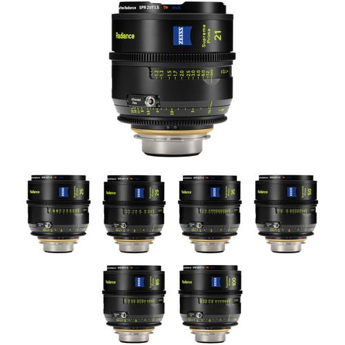 ZEISS Supreme Prime Radiance Sapphire 7-Lens Kit (PL, Feet)