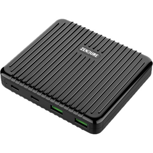 ZENDURE SuperPort 4 100W Dual USB Type-C & USB Type-A Desktop Charger (Black)